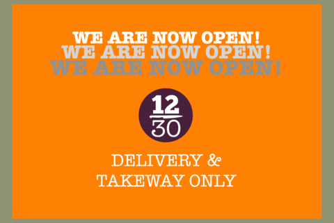 OPEN for TAKE AWAY & DELIVERY